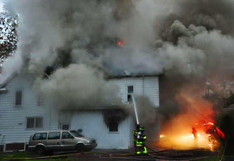 Rooming house on Main Street Batavia destroyed by late
