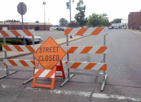 School Street, along with Jackson Street will be closed for the weekend.