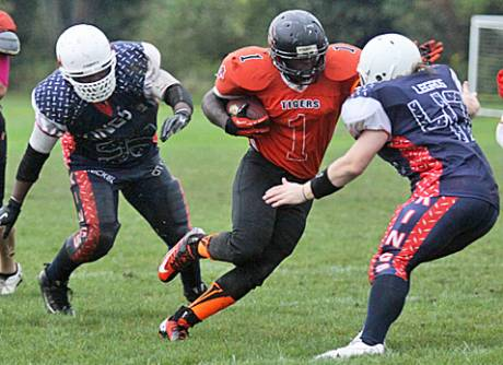 Semi Pro Football Team Playing In Pembroke Notches