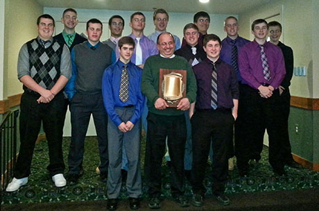 6d90b06fc0ec9c The Notre Dame Boys Basketball Team was honored last night in Rochester at  the Section V banquet. The award was for finishing the season as the  1  seed in ...