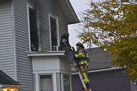 Photo Wood Street Resident Rescued From Structure Fire
