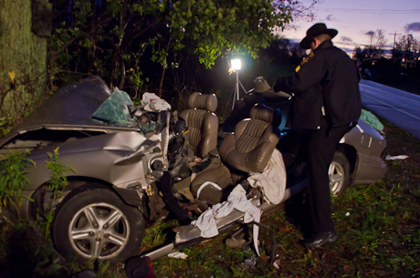 Driver in early morning crash in Elba faces possible DWI