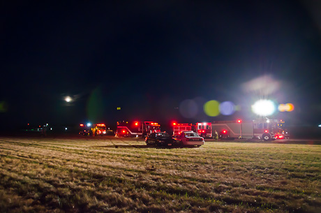 Plane Upside  on Batavia Accidents Genesee County Airport
