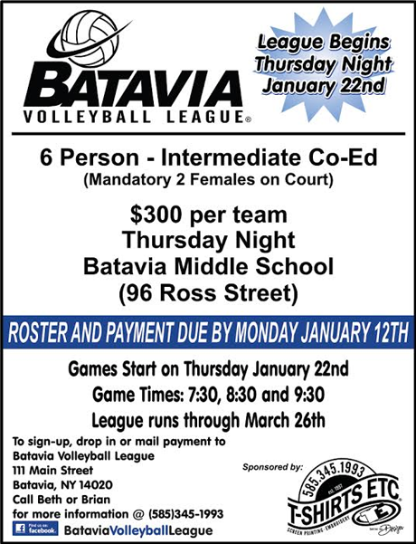 Batavia Volleyball League The Batavian