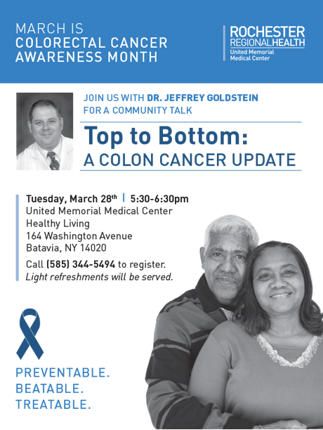 Sponsored Post March Is Colorectal Cancer Awareness Month The Batavian