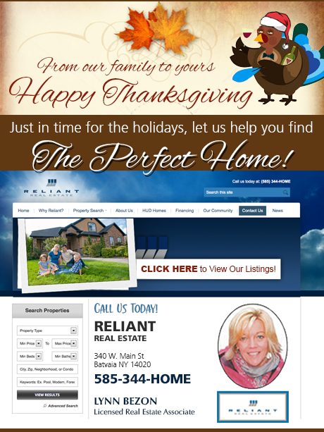 Sponsored Post Happy Thanksgiving From Reliant Real Estate The Batavian